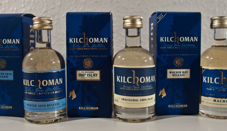 Kilchoman – Tre forskjellige samples (Winter 2010, Inaugural & Machir Bay)