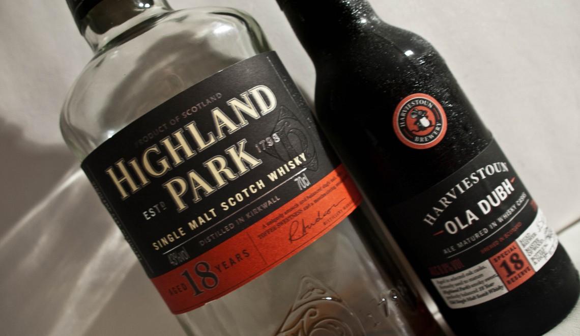 Harviestoun Ola Dubh 18 Special Reserve Ale & Highland Park 18