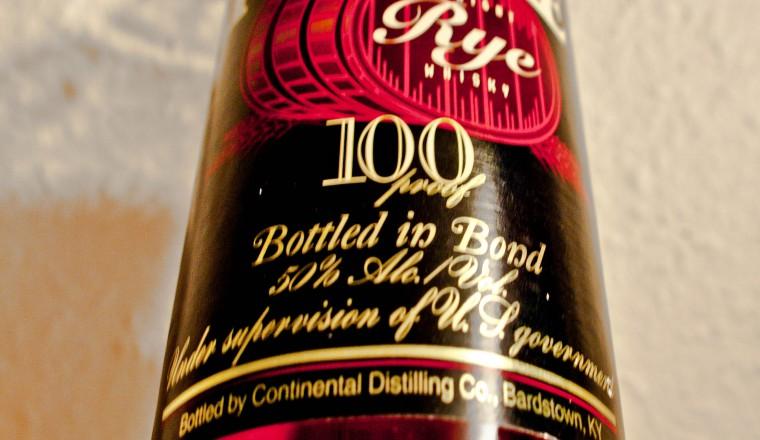 Rittenhouse – Straight Rye Whisky, Bottled in Bond