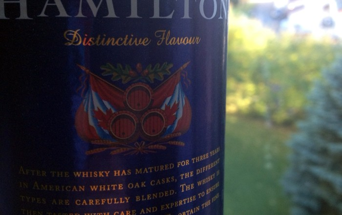 Hamilton Canadian Whisky