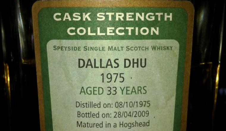 Dallas Dhu – Signatory, 33yrs, 1975-2009